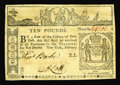 Colonial Notes:New York, New York February 16, 1771 L10 Very Fine-Extremely Fine. Theembossing is quite noticeable on this example that is well cent...