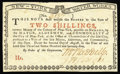 Colonial Notes:New York, New York August 2, 1775 (Water Works) 2s Very Choice New. A nearflawless example with broad, even margins, bold signatures,...