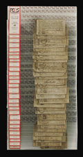 Colonial Notes:North Carolina, Wholesale Group of Thirty-One North Carolina December, 1771 PCGSGraded Notes. Three different denominations are represented...