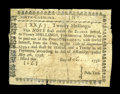 Colonial Notes:North Carolina, North Carolina May 4, 1758 20s Good-Very Good. A very rare issue,unpriced in Newman and listed simply as very rare in Fried...