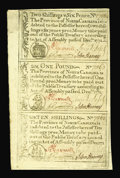 Colonial Notes:North Carolina, North Carolina December, 1771 2s/6d, £1, 10s.Gem New. These sheetswere once rather common, but so many have been cut in or...