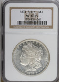 Morgan Dollars: , 1878 7/8TF $1 Strong MS63 Prooflike NGC. NGC Census: (83/62). PCGS Population (94/64). Numismedia Wsl. Price for NGC/PCGS ...