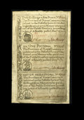 Colonial Notes:North Carolina, North Carolina December, 1771 2s/6d,£1, 10s Choice New. Another nice sheet which has a slight staining on the face....