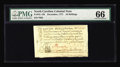 Colonial Notes:North Carolina, North Carolina December, 1771 10s PMG Gem Uncirculated 66. Abright, bold, well centered and well printed example, with Supe...