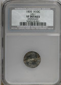 Early Half Dimes, 1805 H10C --Damaged--NCS. VF Details. LM-1. NGC Census: (0/16).PCGS Population (4/30). Mintage: 15,600. Numismedia Wsl. Pri...