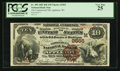 National Bank Notes:Wisconsin, Appleton, WI - $10 1882 Brown Back Fr. 490 The Commercial NB Ch. # (M)2565. ...