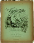 Books:Periodicals, [Periodical]. Philadelphia Sketch Club Portfolio, Nos. 11 & 12, Vol. I, December, 1874. Philadelphia: Taylor & S...