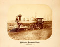 Books:Photography, [Railroad]. Sepia-Toned Photographic Print of Train Engine. [N.p., n.d., ca. late 1800s]. Large photographic print of train ...