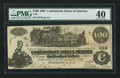 Confederate Notes:1862 Issues, T39 $100 1862 PF-19 Cr. UNL.. ...