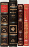Books:Americana & American History, [American History]. Henry Adams, Benjamin Franklin and Others.Group of Four Franklin Library Titles. Franklin Center: F...(Total: 4 Items)