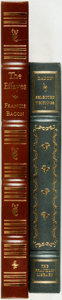 Books:Literature Pre-1900, Francis Bacon. Pair of Easton Press and Franklin Library Titles.Various publishers and dates. Publisher's full leather bind...(Total: 2 Items)