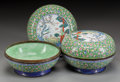 Asian:Chinese, A PAIR OF CHINESE PEKING ENAMEL COVERED BOWLS. 5 inches high x8-1/4 inches diameter (12.7 x 21.0 cm). ... (Total: 2 Items)
