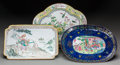 Asian:Chinese, THREE CHINESE PEKING ENAMELED METAL PLATES, circa 1900. 11-3/4inches (29.8 cm) (largest). ... (Total: 3 Items)