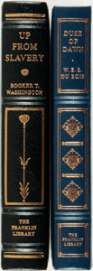 Books:Fine Bindings & Library Sets, [Booker T. Washington, W.E.B. DuBois]. Pair of Franklin Library Editions. Various dates. Publisher's full leather with gilt ... (Total: 2 Items)