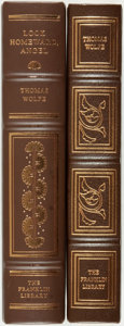 Books:Fine Bindings & Library Sets, [Thomas Wolfe]. Pair of Franklin Library Editions. Various dates.Publisher's full leather with gilt titles and decoration. ...(Total: 2 Items)