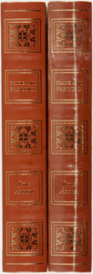 Books:Fine Bindings & Library Sets, Jane Austen. Pride and Prejudice. Dalmatian Press, 2004. Two copies. Publisher's full leather with gilt titles and d... (Total: 2 Items)