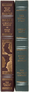 Books:Fine Bindings & Library Sets, Philip Roth. SIGNED. Pair of First Editions. Franklin Center: Franklin Library, [various dates]. Both are signed by the au... (Total: 2 Items)