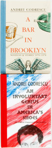Books:Fiction, Group of Two Andrei Codrescu Books (Both SIGNED) including: AnInvoluntary Genius in America's Shoes (And What Happened ...