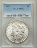 1893 $1 MS62 PCGS. PCGS Population (772/2659). NGC Census: (461/1449). Mintage: 389,792. Numismedia Wsl. Price for probl...
