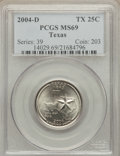 Statehood Quarters, 2004-D 25C Texas MS69 PCGS. PCGS Population (25/0). NGC Census:(15/0). Numismedia Wsl. Price for problem free NGC/PCGS co...
