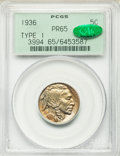 Proof Buffalo Nickels: , 1936 5C Type One -- Satin Finish PR65 PCGS. CAC. PCGS Population(178/566). NGC Census: (143/392). Mintage: 4,420. Numismed...