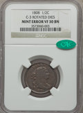 1808 1/2 C Half Cent -- Rotated Dies -- C-3, B-3, R.1, VF30 NGC. CAC