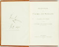 Books:Literature Pre-1900, The Marquis of Lorne. SIGNED. Memories of Canada and Scotland; Speeches and Verses by the Right Hon. the Marquis of Lorn...