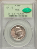 Washington Quarters: , 1941-S 25C MS67 PCGS. CAC. PCGS Population (59/0). NGC Census:(81/0). Mintage: 16,080,000. Numismedia Wsl. Price for probl...