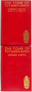 Books:World History, Howard Carter and A.C. Mace. The Tomb of Tut-Ankh-Amen Discovered by the Late Earl of Carnarvon and Howard Carter, Vols.... (Total: 2 Items)