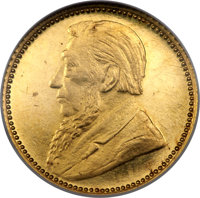 South Africa: Republic gold Proof Pattern 6 Pence 1897 PR63 Cameo NGC