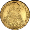 Colombia, Colombia: Charles IIII gold 8 Escudos 1800/799 NR-JJ MS63 NGC,...