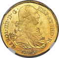 Colombia, Colombia: Charles IIII gold 8 Escudos 1795 P-JF MS61 NGC,...