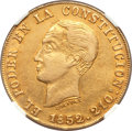 Ecuador, Ecuador: Republic gold 8 Escudos 1852/0-GJ XF Details (Excessive Surface Hairlines) NGC,...