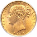 "Australia, Australia: Victoria gold ""Shield"" Sovereign 1871-S MS63 PCGS,..."