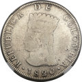 Colombia, Colombia: Republic Mule 8 Reales 1820-JF VG8 NGC,...