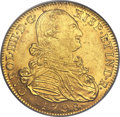 Colombia, Colombia: Charles IIII gold 8 Escudos 1798 NR-JJ MS61 PCGS,...