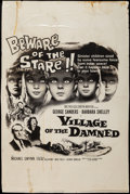 """Movie Posters:Science Fiction, Village of the Damned (MGM, 1960). Locally Produced Poster (39.25"""" X 59.75""""). Science Fiction.. ..."""