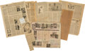 Books:Prints & Leaves, Large Archive of Newspaper Clippings Collected by Williams. 1940s-1970s. Includes reviews of his books and articles about hi...