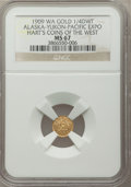 Alaska Tokens, 1909 Alaska-Yukon-Pacific Exposition 1/4 DWT, MS67 NGC.Gould-Bressett 168. Hart's Coins of the West....