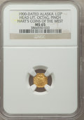 Alaska Tokens, 1900 Alaska Indian Octagonal 1/2 Pinch, Head Left, MS65 NGC.Gould-Bressett 138 Hart's Coins of the West....