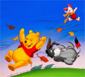 Animation Art:Production Drawing, Winnie the Pooh Storybook Illustration by Paul Wenzel (Walt Disney, c. 1980s-90s)....