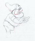 Animation Art:Production Drawing, Snow White and the Seven Dwarfs Doc Animation Drawing (WaltDisney, 1937)....