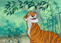 Animation Art:Production Cel, The Jungle Book Shere Kahn Production Cel Key Master Setup(Walt Disney, 1967)....