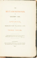 Books:Philosophy, Apuleius. [Thomas Taylor, the Neoplatonist trans.] The Metamorphosis, or Golden Ass, of Apuleius. Translated From The O...