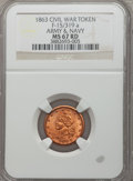 Civil War Patriotics, 1863 Army & Navy MS67 Red NGC. Fuld-15/319a....