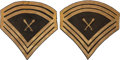 Military & Patriotic:Civil War, Most Rare, Only Example We've Ever Seen, Pair of Chevrons for Band Sergeant/ Drum Major....