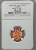 Civil War Patriotics, 1863 Army & Navy MS66 Red NGC. Fuld-15/319a....
