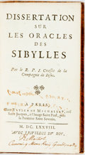 Books:Metaphysical & Occult, Crasset, Jean. [Sibylline Oracles]. Dissertation sur les Oracles des Sibylles. Paris: Estienne Michallet, 1688. 12mo...