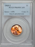 Proof Lincoln Cents: , 1968-S 1C PR69 Deep Cameo PCGS. PCGS Population (36/0). NGC Census: (36/0). Numismedia Wsl. Price for problem free NGC/PCG...