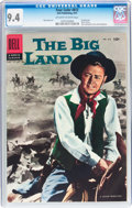 Silver Age (1956-1969):Western, Four Color #812 The Big Land (Dell, 1957) CGC NM 9.4 Off-white towhite pages....